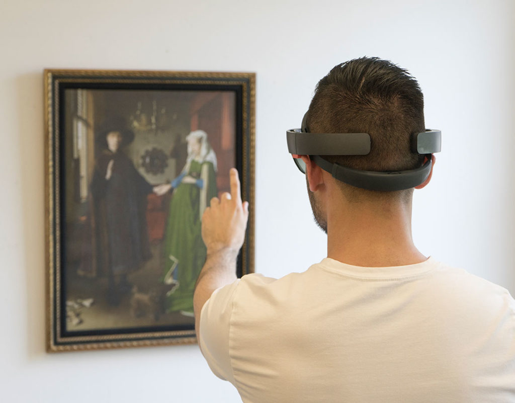 Using the HoloLens with the painting.